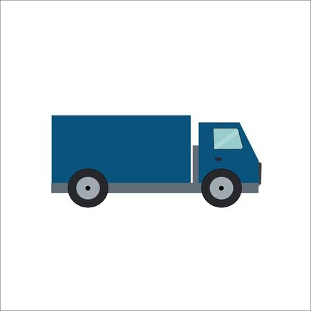 semitrailer: Ftat Truck Vector Illustration EPS10 Illustration