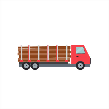 Ftat Truck Vector Illustration EPS10 Vettoriali
