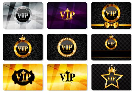 vip symbol: VIP Members Card Set Vector Illustration EPS10 Illustration