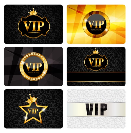 exclusion: VIP Members Card Set Vector Illustration EPS10 Illustration