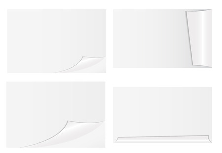 Weißes Papier. Vektor-Illustration. EPS10