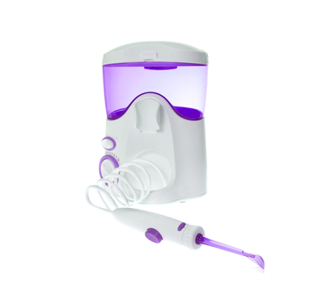 dental prophylaxis: Brushing Teeth, Massage Gums. Irrigator for Oral Cavity Cleaning. Isolated