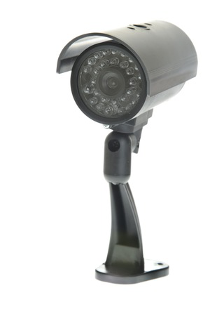 covert: Covert Surveillance Camera. Isolated on White Background.