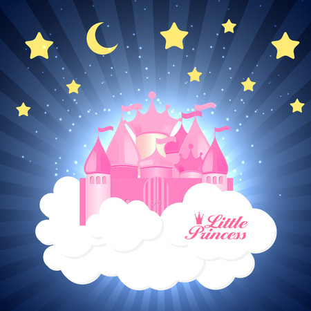 princess castle: Princess  Background with Castle Vector Illustration EPS10