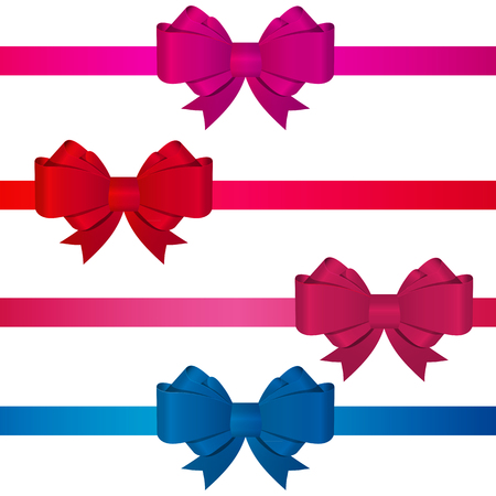 gift ribbon: Gift Bow with Ribbon Vector Illustration EPS10