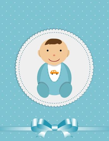 Vector Illustration for Newborn Boy EPS10