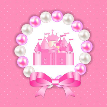 corona princesa: La pequeña princesa de fondo Ilustración vectorial EPS10 Vectores