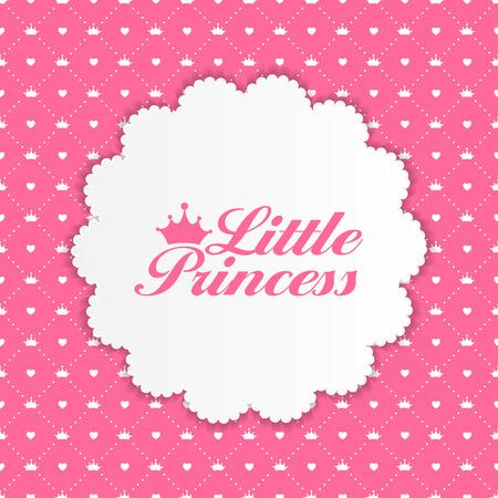 little princess: Little Princess Background Vector Illustration EPS10