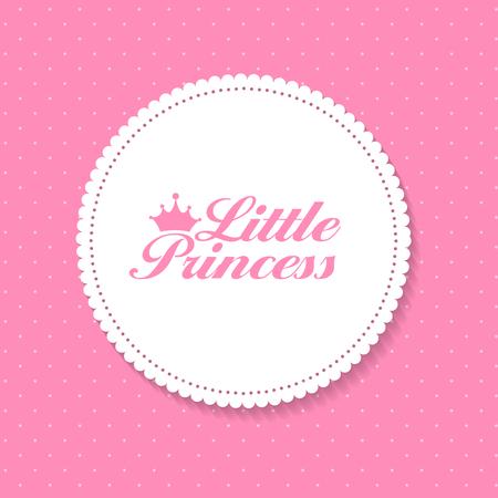 princesa: La pequeña princesa de fondo Ilustración vectorial EPS10 Vectores