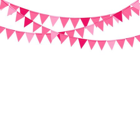 Party-Hintergrund mit Flaggen Vektor-Illustration. Standard-Bild - 44580109