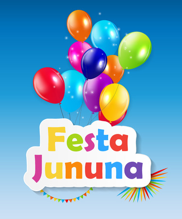 festa: Festa Jinina Background Vector Illustration EPS10