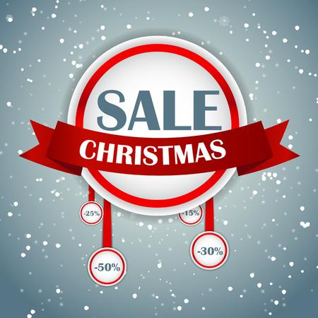 christmas concept: Christmas SALE Concept  Background Vector Illustration EPS10