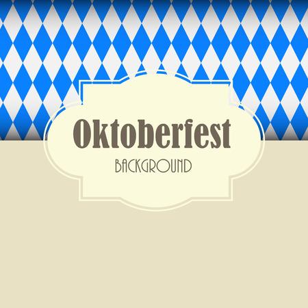 Oktoberfest Blue Background Vector Illustration EPS10