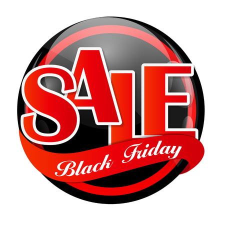 miserly: Black Friday Sale Vector Illustration
