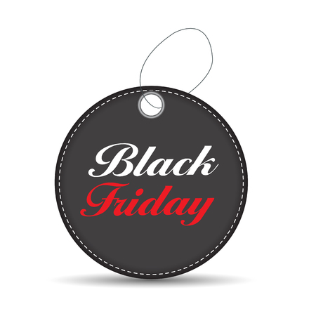 miserly: Black Friday Sale Label Vector Illustration