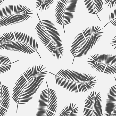palm tree leaves: Palm Leaf Vector Seamless Pattern Background Illustration