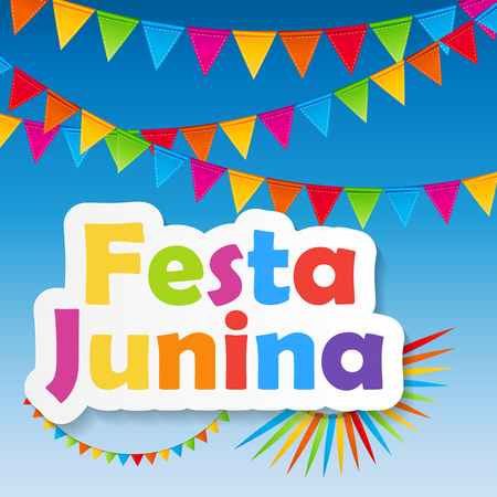 festa: Festa Junina Background Vector Illustration