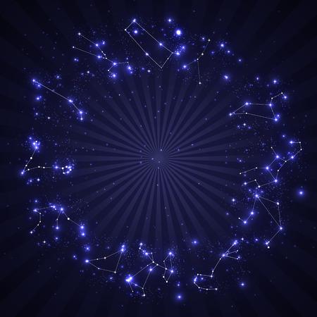 Ensemble de symbole Signe du zodiaque. Illustration vectorielle. EPS10