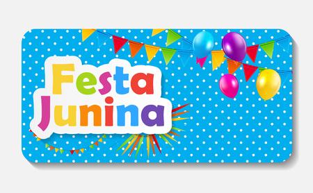 hillbilly: Festa Junina Background Vector Illustration