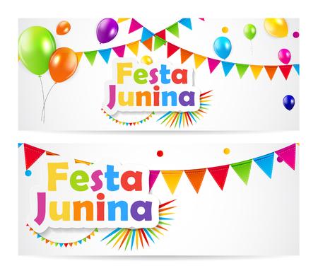 june: Festa Junina Background Vector Illustration