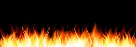 flames: Quemar Llama de Fuego. Ilustraci�n del vector. Vectores