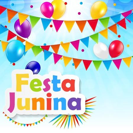 festa: Festa Junina Background Vector Illustration EPS10