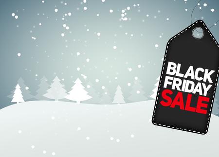 black friday: Black Friday Sale Background Vector Illustration