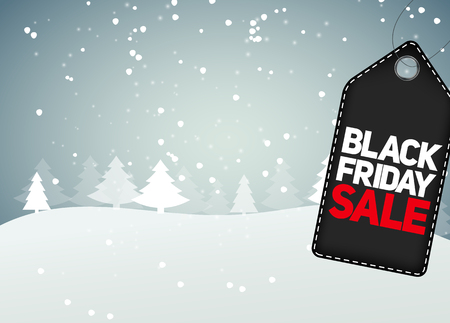 Black Friday Sale Background Vector Illustration