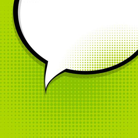 comic bubble: Speech Bubble Pop Art Background On Dot Background Vector Illustration  Illustration