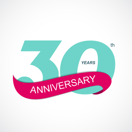 selebration: Template Logo 30th Anniversary Vector Illustration EPS10