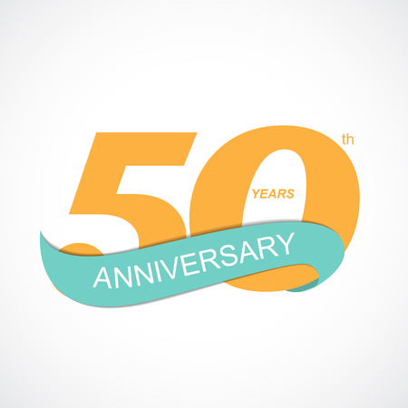 age 10: Template Logo 50th Anniversary Vector Illustration EPS10