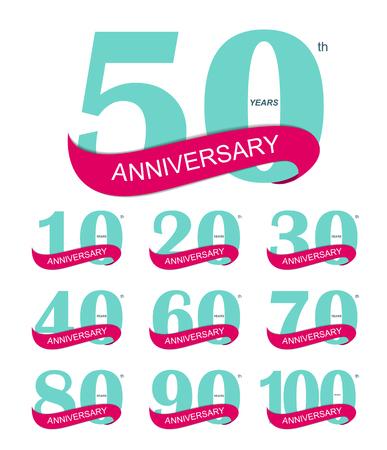 Sjabloon Logo 30th Anniversary Vector Illustratie EPS10