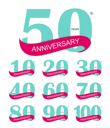 Template Logo 30th Anniversary Vector Illustration EPS10