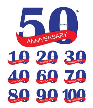 Logo Plantilla 30 Aniversario ilustración vectorial EPS10 Foto de archivo - 47322722
