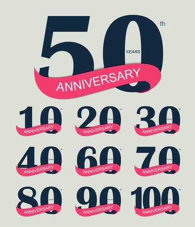 cobranza: Logo Plantilla 30 Aniversario ilustración vectorial EPS10