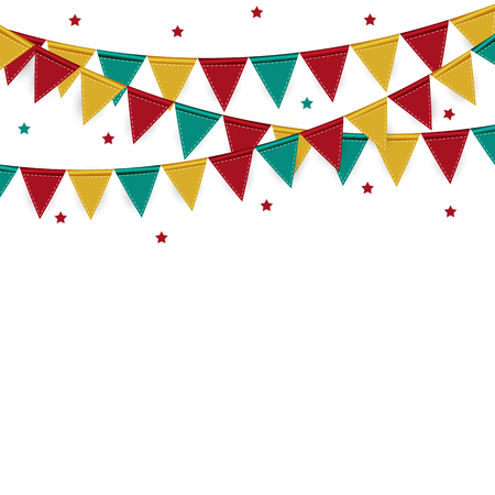 carnival border: Party Background with Flags Vector Illustration. EPS 10 Illustration