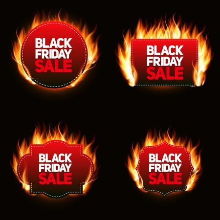 miserly: Black Friday Sale Label Vector Illustration EPS10