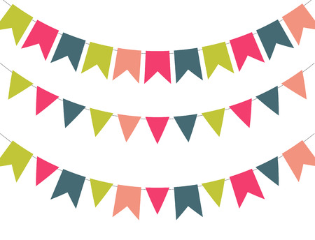 text space: Party Background with Flags Vector Illustration. EPS 10 Illustration