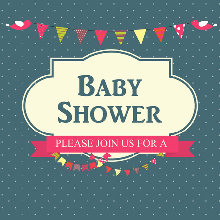 shower: Baby Shower Invitation Vector Illustration EPS10