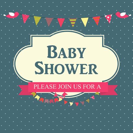 Baby Shower Invitation Vector Illustration EPS10