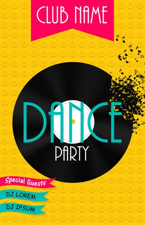 DAnce background: Vertical Dance Party Flyer Background with Place for Your Text. Vector Illustration. EPS10