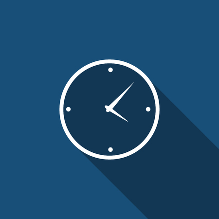 time clock: Modern Flat Time Management Vector Icon for Web and Mobile Application