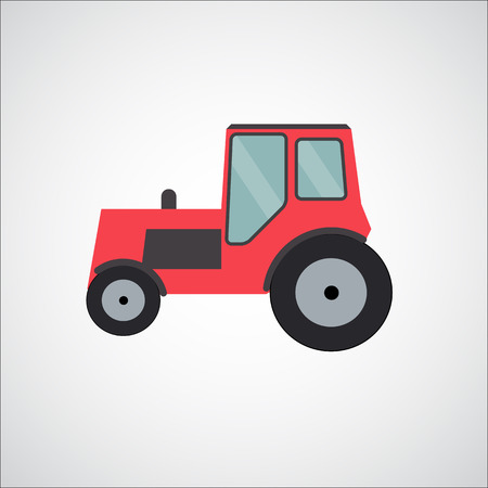 waggon: Ftat Tractor Vector Illustration EPS10