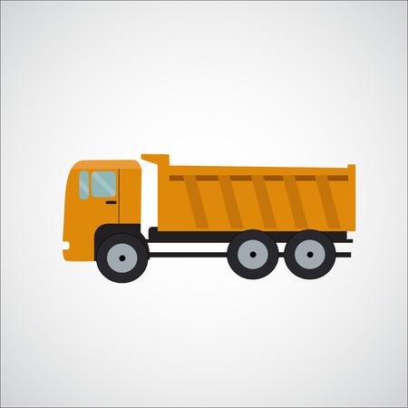 Ftat Truck Vector Illustration EPS10 Illustration