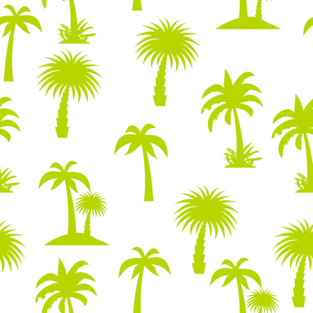 summer tree: Palm Tree Seamless Pattern Vector Illustration EPS10