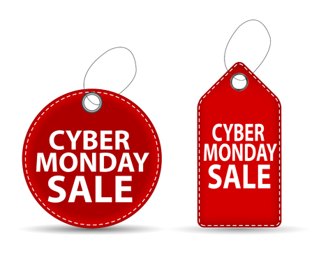 miserly: Cyber Monday SALE Label Vector Illustration