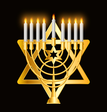 jewish faith: Happy Hanukkah, Jewish Background. Vector Illustration. Hanukkah is the name of the Jewish holiday.