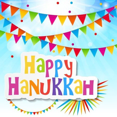 holiday background: Happy Hanukkah, Jewish Holiday Background. Vector Illustration. Hanukkah is the name of the Jewish holiday.  Illustration