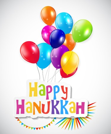 menora: Happy Hanukkah, Jewish Holiday Background. Vector Illustration. Hanukkah is the name of the Jewish holiday.  Illustration