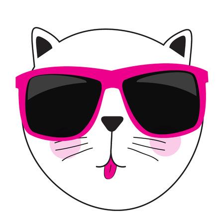 Cute Handdrawn Cat Isolated Vector Illustration